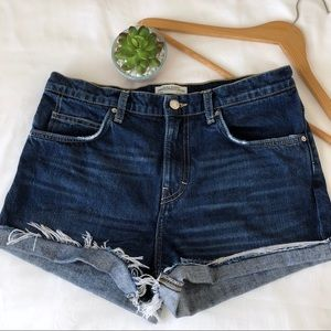 Zara high waisted distressed jean cutoff shorts 6